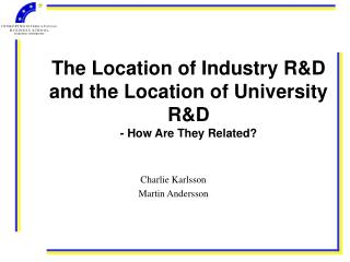 The Location of Industry R&D and the Location of University R&D - How Are They Related?