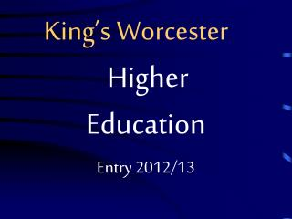 King's Worcester