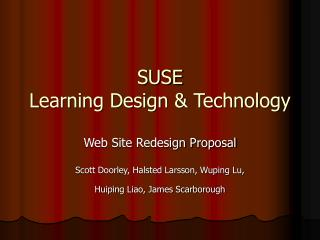 SUSE Learning Design & Technology