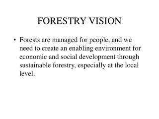 FORESTRY VISION