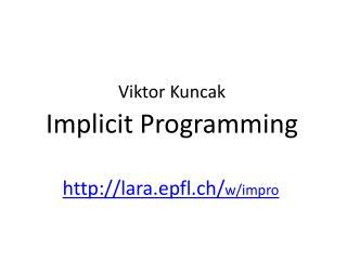 Implicit Programming