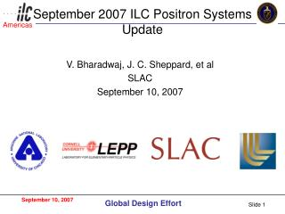 September 2007 ILC Positron Systems Update