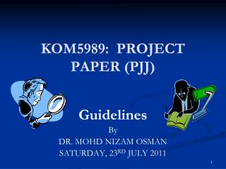 KOM5989:  PROJECT PAPER (PJJ)