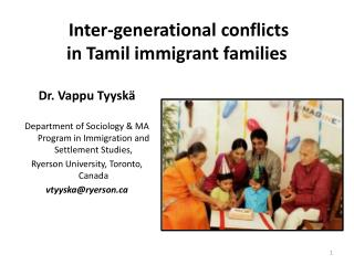 Inter-generational conflicts  in Tamil immigrant families