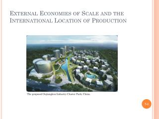 External Economies of Scale and the International Location of Production