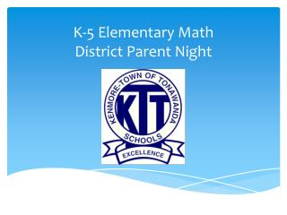 K-5 Elementary  Math  District Parent Night