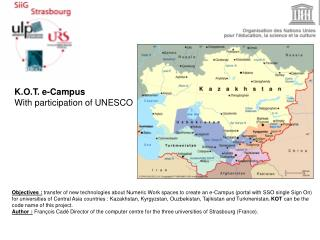 K.O.T. e-Campus With participation of UNESCO