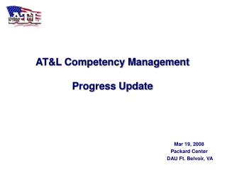 AT&L Competency Management Progress Update