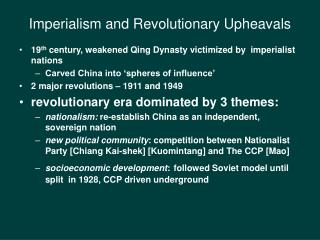 Imperialism and Revolutionary Upheavals