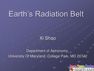 Earth�s Radiation Belt
