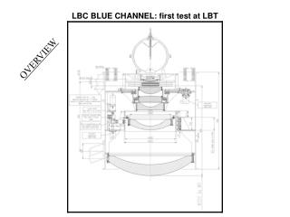 LBC BLUE CHANNEL: first test at LBT