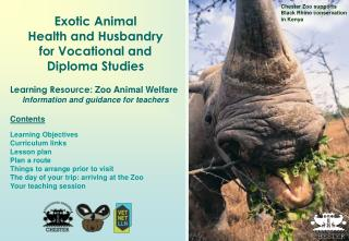 Chester Zoo supports Black Rhino conservation in Kenya