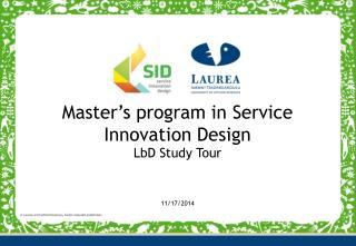 Master's  program  in Service Innovation Design