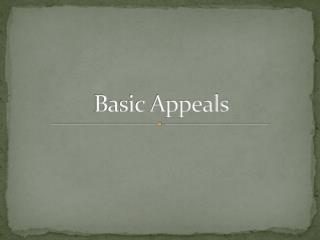 Basic Appeals