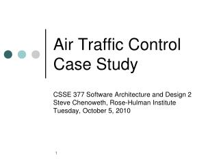Air Traffic Control Case Study
