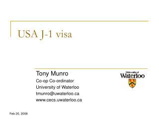 USA J-1 visa