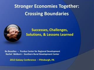 Stronger Economies Together:  Crossing Boundaries