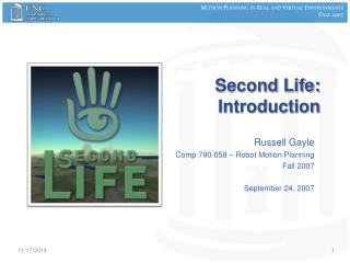 Second Life:  Introduction