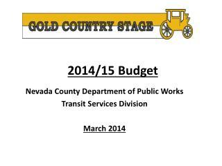 2014/15 Budget