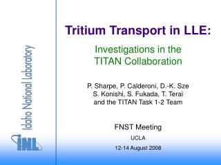 Tritium Transport in LLE: Investigations in the TITAN Collaboration