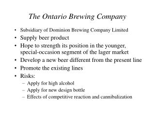 The Ontario Brewing Company