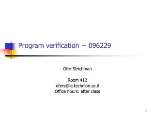 Program verification -- 096229