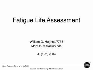 Fatigue Life Assessment