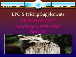 LPC�S Pricing Supplements