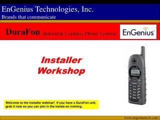 Installer Workshop