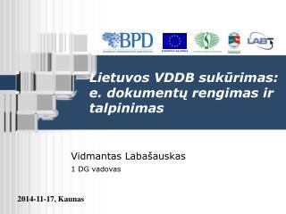 Lietuvos VDDB suk ūrimas:  e. dokumentų rengimas ir talpinimas