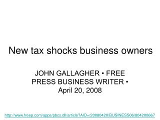 New tax shocks business owners