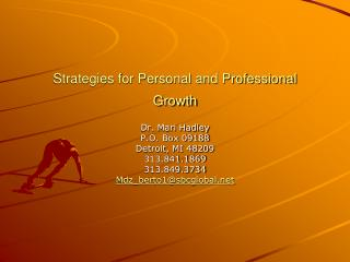 Strategies for Personal and Professional Growth