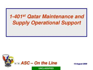 1-401 st  Qatar Maintenance and Supply Operational Support