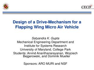 Design of a Drive-Mechanism for a Flapping Wing Micro Air Vehicle