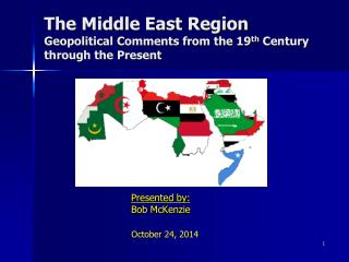 The Middle East Region  Geopolitical Comments from the 19 th  Century through the Present