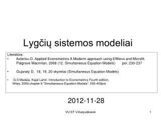 Lygčių sistemos modeliai