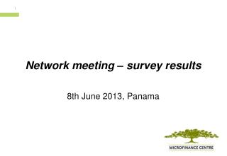 Network  meeting  –  survey results