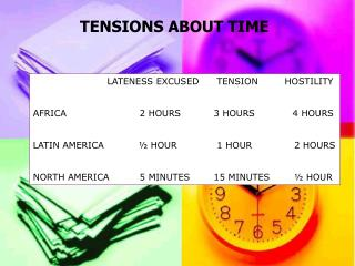 TENSIONS ABOUT TIME
