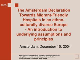 Amsterdam, December 10, 2004
