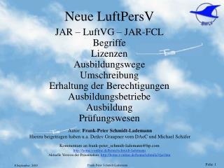 Neue LuftPersV