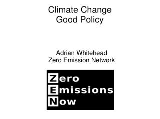 Climate Change Good Policy
