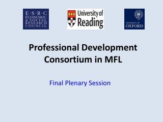 Professional Development Consortium in MFL