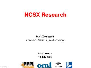 NCSX Research