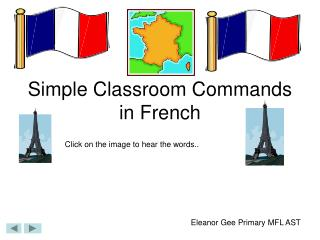 Simple Classroom Commands in French