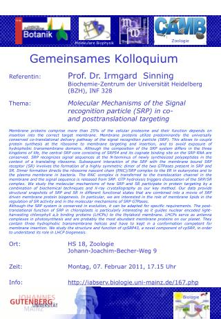 Gemeinsames Kolloquium