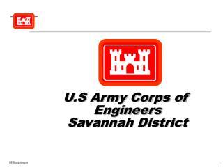 U.S Army Corps of  Engineers Savannah District