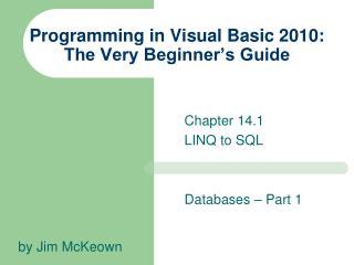 Programming in Visual Basic 2010: The Very Beginner's Guide
