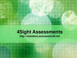 4Sight Assessments members.successforall