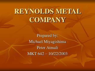 REYNOLDS METAL COMPANY