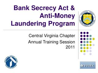Bank Secrecy Act & Anti-Money Laundering Program
